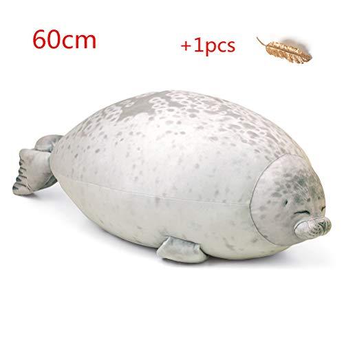 Creamon Meerestier Kissen, Meerestier Kissen Blob Seal Kissen süße Dichtung Stofftier Baumwolle Plüsch Tier Kissen 002#