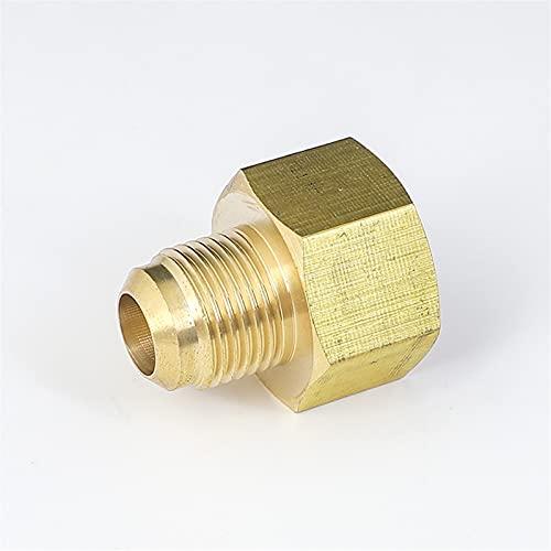Doamt Zmaoyun-Tubos de latón 45 Grados 1/4'3/8' 1/2'3/4' Flare Reduciendo el Reductor de Ajuste Conector de tubería de latón Agua de Combustible de Aire, Material de latón Duradero