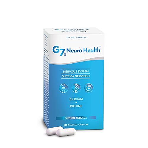 G7 Neuro Health   Avec Biotine et Silicium Organique   Améliore les fonctions psychologiques et le système nerveux en éliminant les métaux lourds et l'aluminium du cerveau
