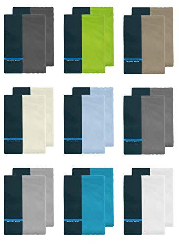 2er Pack Kinder Spannbettlaken 70x140 cm 100% Microfaser Spannbetttuch für Babybett Kinderbett Anthrazit