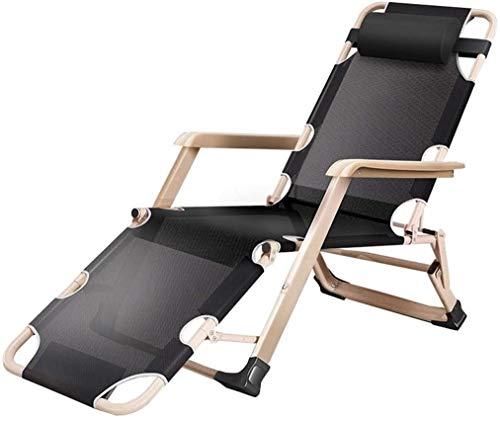 Lhak Sillón reclinable al Aire Libre Relajación Gravedad Cero Silla Plegable Terraza Anti-inclinación de inclinación del sillón Plegable Patio con Almohadilla y la Taza Titular