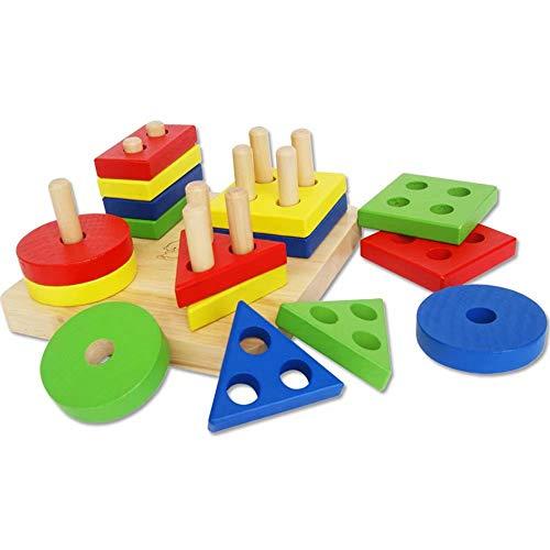 GG-kids toys Jouets éducatifs en Bois, pour Enfants préscolaires en Forme de Couleur de Bois en Forme de Couleur, Jouets pour Tout-Petits, Cadeaux d'anniversaire pour garçons et Filles de 1 à 3 Ans