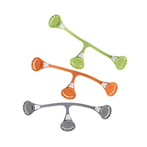 [Toddler Size 3-Pack] Snappi Cloth Diaper Fasteners - Replaces Diaper Pins - Use with Cloth Prefolds and Cloth Flats
