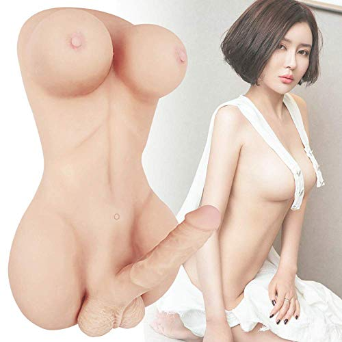 Sex Doll Life Size Silicone Entity Lifelike 2 in 1 Mixed Torso Penis Gay Doll 8 Inch Penis Love Doll for Men Sex Toys - Women Men Sex Toys - Sex Dolls for Men Women Gay 14 lbs 100% Discreet Package
