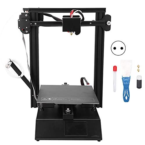Impresora 3D, impresora 3D de alta precisión con pantalla LED a color de 3,5 pulgadas para repetidor(European standard 250V, pink)