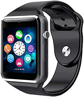 9000652c7c6fa7 TIRUMI A1 Bluetooth Smart Watch with Camera and Sim Card Support for All 3G  & 4G