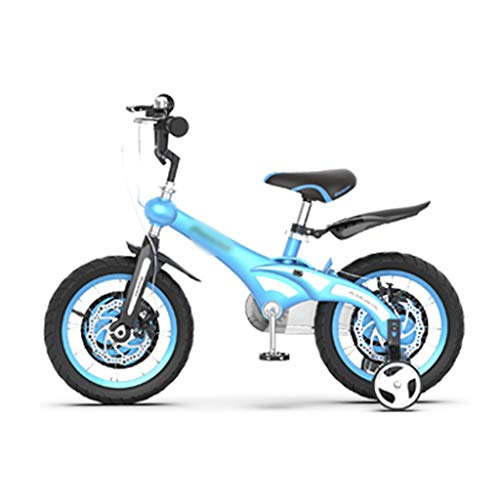 WANGPIPI Children Bicycle Boys and Girls On Bicycles Outdoor Bike Indoor Exercise Bike Adjustable Bicycle Gift 12/14/16 Inches 3-18 Years Old Children's Bicycle (Color : Blue, Size : 12inch)