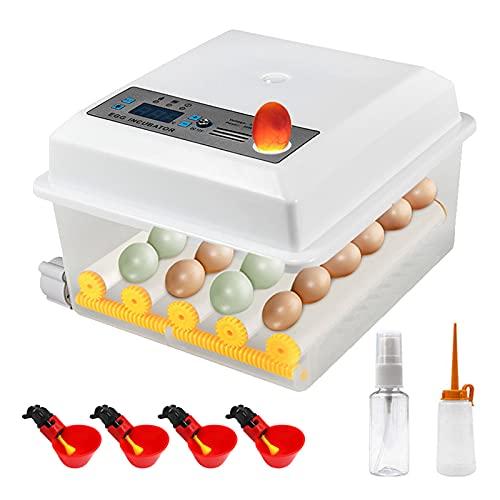 EUNEWR 16 Eier Automatischer Inkubator mit Geflügel Wassertrinkbecher,brutapparat vollautomatisch,Inkubator Vollautomatische Brutmaschine,Eierbrutmaschine mit Temperatur&Feuchtigkeitsregulierung