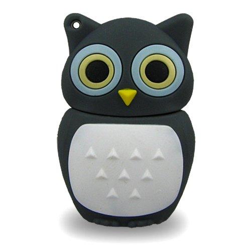 818-Shop No13700080064 Hi-Speed 2.0 USB-Sticks 64GB Eule Vogel Uhu 3D grau