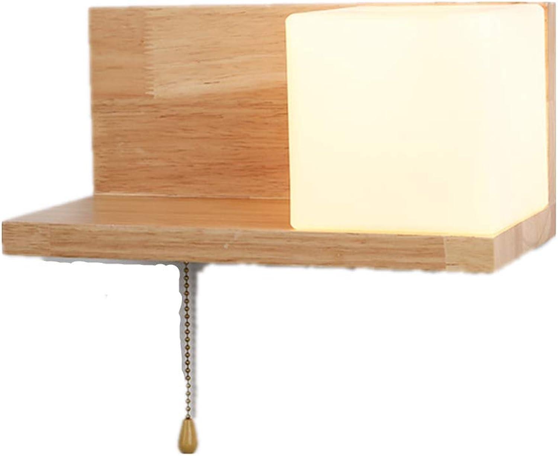 Wandleuchten im modernen Stil aus festem hellem Weichholz, geeignet für Schlafzimmerbalkonhotelflur