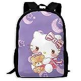 Mei-shop Mochila Informal Night Hello-Kitty Imprimir Cremallera Mochila Escolar...