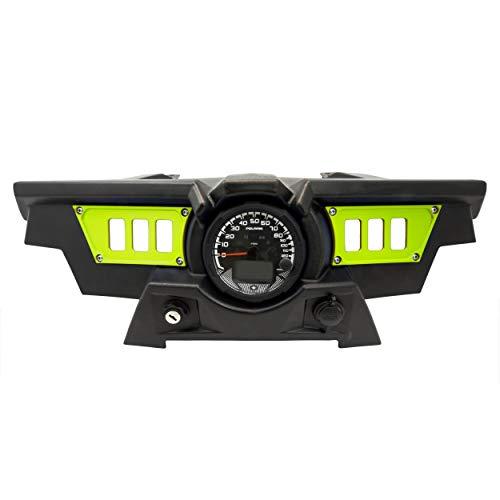 STV Motorsports SDP6 Aluminum Dash Panel Rocker Switch Plates for Polaris RZR XP 1000 for 6 Rocker Switches (Lime)