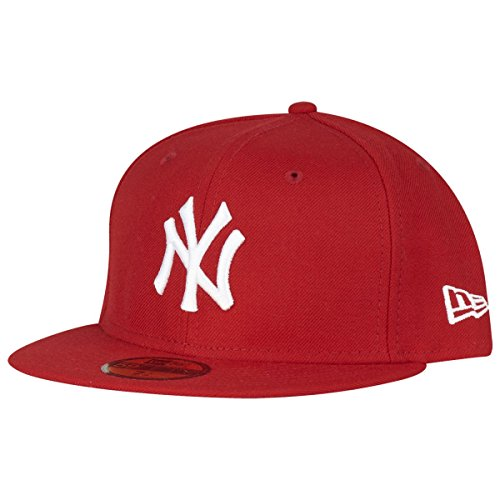 New Era York Yankees 59fifty Cap MLB Basic Red/White - 6 7/8-55cm