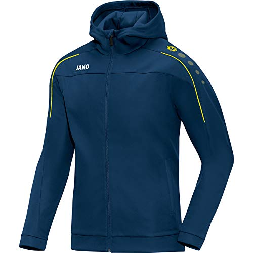 JAKO Classico Sweatshirt à Capuche Homme, Bleu, 4XL