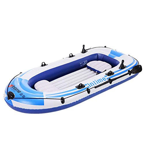 Zixin Inflatable Kayak,Two-Pson Inflatable Boat Rubb Rowing Boat,for Adult Outdoor Sport(198×122cm) (Color : Blue)