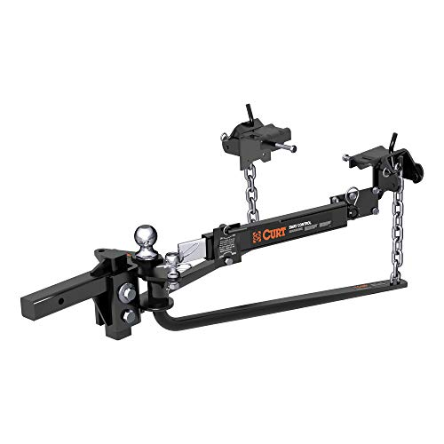 CURT 17062 Round Bar Weight Distribution Hitch with Integrated Lubrication and Sway Control, Up to 10K, 2-in Shank, 2-5/16-Inch Ball
