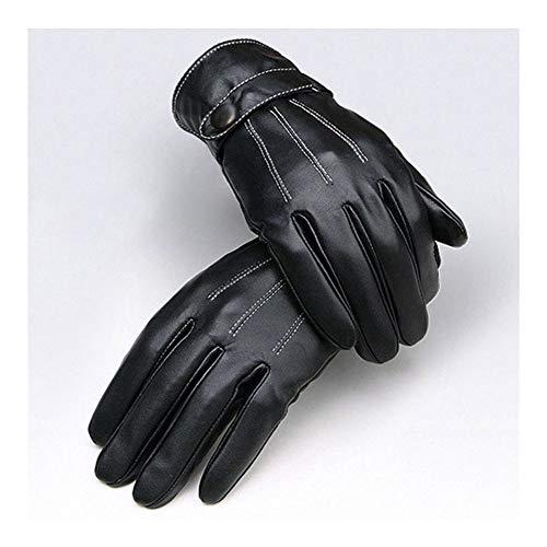 LUOSI Man High-End-Ski-Handschuhe All-Finger Sport-Handschuhe Schwarz Outdoor-Sport-Klettern REIT Treiber Warm Fashion Handschuhe (Color : Black, Size : One Size)