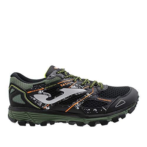 Joma Shock Men 2031 Negro-Verde - Zapatillas Trail Running Aislatex Impermeable (Verde, Numeric_40)