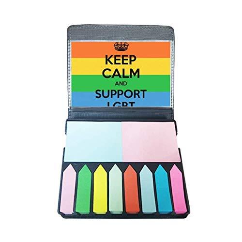 Gay Lesbische Transgender Biseksuelen Vlag LGBT Zelf Stick Note Kleur Pagina Marker Doos