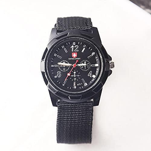 Libarty Reloj Suizo de Moda, Reloj Militar con Banda Trenzada de Nailon, Reloj Gemius, Reloj de Pulsera Informal, Reloj Deportivo para Hombres
