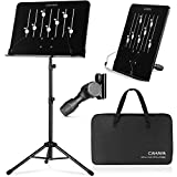 CAHAYA Sheet Music Stand with Carry Bag Notes Books Stand Laptop Stand Tablet Desk Top Stand