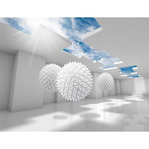 Fototapete 3D - Blau 396 x 280 cm Vlies Wand Tapete Wohnzimmer Schlafzimmer Büro Flur Dekoration Wandbilder XXL Moderne Wanddeko - 100% MADE IN GERMANY - Runa Tapeten 9182012a