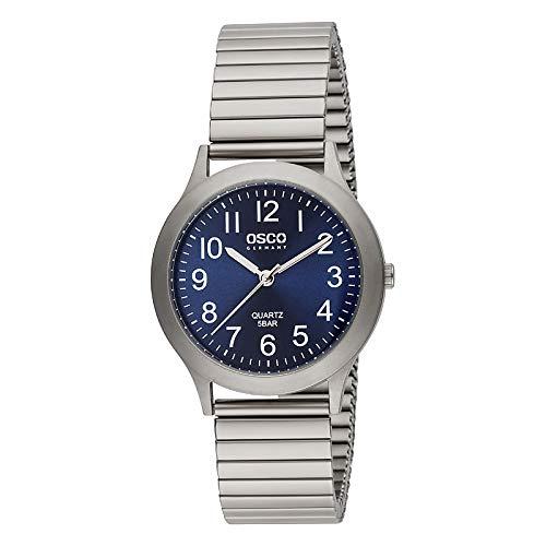 OSCO Titan Zugband-Uhr Blau Titan-Flexband 04104028