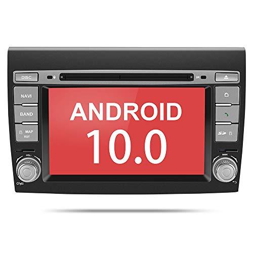 Aumume Android 10.0 Autoradio per FIAT Bravo(2007-2012) con Supporto per Navigatore Satellitare Controllo del Volante Autoplay Mirrorlink DSP Bluetooth DAB + (con scheda da 16 GB)