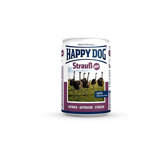 Happy Dog Strauß Pur Dose | 12x 400g Nassfutter