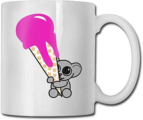 11 oz Koffiemok, Theemok, Leuke Kitty Ballerina Koffiemok Mannelijke Verjaardag Keramische Geschenken Theebeker, Het perfecte cadeau voor familie en vrienden, Leuke Witte Koffiebeker
