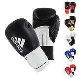 adidas Guantes de Boxeo Hybrid 100 de Color Negro, 12 oz