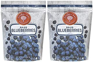 Cherry Bay Orchards - Dried Blueberries - Pack of Two 6oz Bags (Total 12oz) - 100% Domestic, Natural, Kosher Certified, Gl...