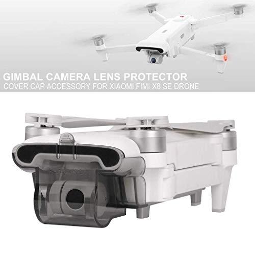 SunnyLIFE Camera Lens Protector Cover Cap Accessory for Xiaomi FIMI X8 SE Drone Color-Transparent Gray