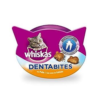 whiskas dentabites Chat Snack Poule, Lot de 8(8x 40g)