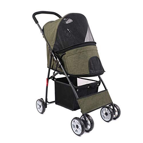 Hondenbuggy/buggy/kinderwagen, inklapbaar, kat, voor huisdieren, kruiwagen, 4 wielen buiten, veiligheid op reis