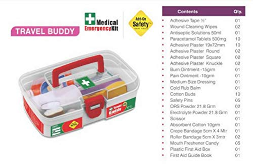 Add-on Safety First Aid Kit - TRAVEL BUDDY (Box with all the medicines inside)