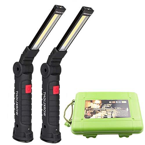 USB recargable con la batería incorporada con la función multifunción Plegable de plegado LED COB LED liderado antorcha linterna linternas super brillante para la seguridad (Body Color : Short)