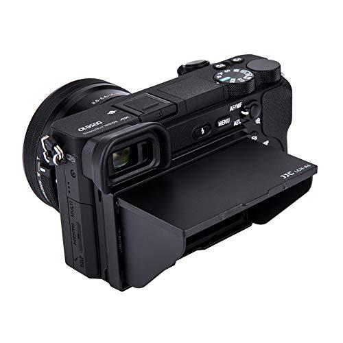 JJC LCD Gegenlichtblende für Sony Alpha A6600 A6500 A6400 A6300 A6100 A6000 Mirrorless Digital Camera