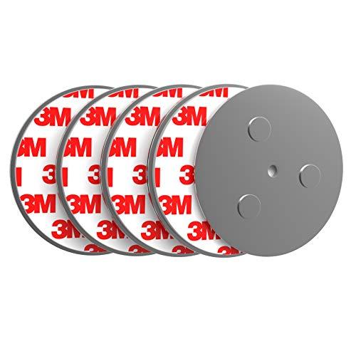 Lacaso Rauchmelder Magnethalter [5X] | 3-Fach Neodym-Magnete & starker 3M Kleber I Für alle Rauchmelder I Hält an Allen Oberflächen I Schnelle & sichere Montage ohne Bohren