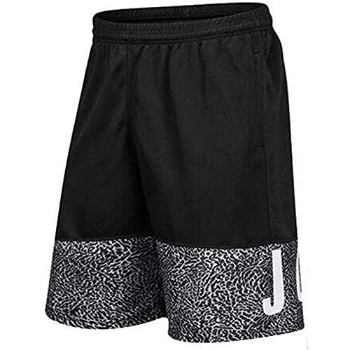 Jordan Bulls - Pantalones cortos de baloncesto para hombre, pantalones cortos elásticos para correr, fitness, J-L