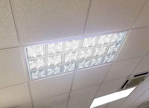 Golden Eagle Decor & Graphics Glass Tiles - 2ft x 4ft Drop Ceiling Fluorescent Decorative Ceiling Light Cover Skylight Film