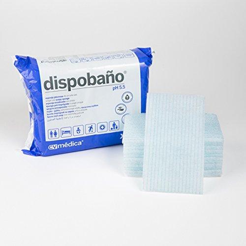 Dispobaño, Esponja Jabonosa desechable 12x20 cm. 100 grs. Pack 24 uds