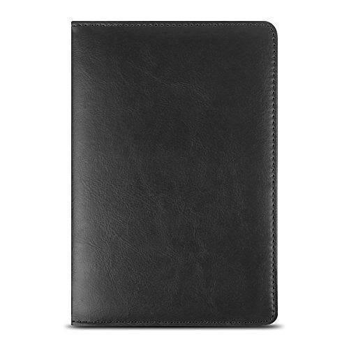 NAUC Universal Tablet Tasche Hülle für 10-10.1 Zoll Schutzhülle Tablettasche mit Standfunktion 360° drehbar hochwertige Verarbeitung viele Motive Universal Tablethülle Case, Farben:Schwarz