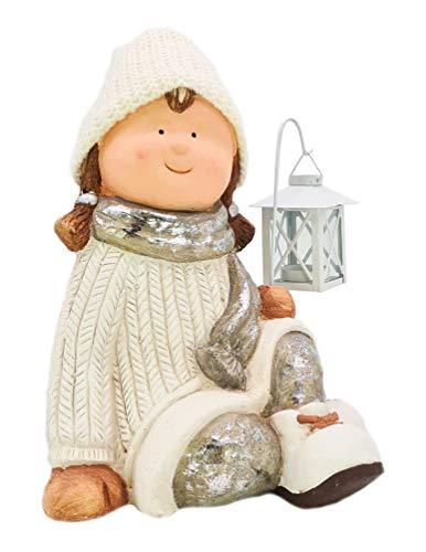 Gnomo collezione XXL, decorazione natalizia da 35 cm, per bambine con lanterna