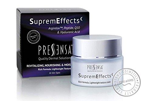 SupremEffects CREMA DE NOCHE con Q10, Ácido Hialurónico, Vitamina E, ANTI ARRUGAS e hidratante crema. EFECTO BOTOX FACIAL 50 ml