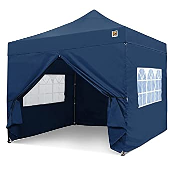 Gorilla Gazebo ® Pop Up 3x3m Heavy Duty Waterproof Commercial Grade Market Stall (RoyalBlue) 4 Side Panels and Wheeled Carrybag