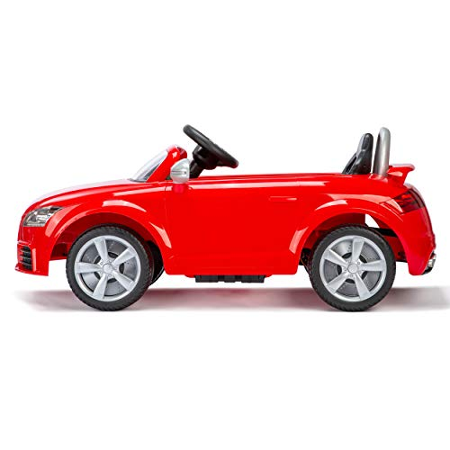 Xootz, Audi Kids Electric Ride-On Car, Official TT RS (Plus) with Working Headlights and Rechargeable Battery, Red