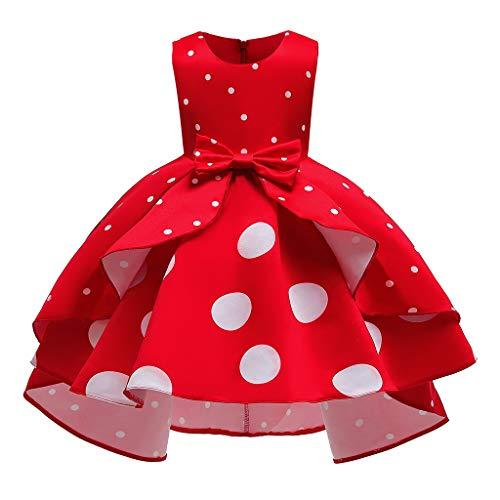 Likecrazy Baby Mädchen Prinzessin Kleid Tüll Brautjungfer Hochzeit Geburtstag Party Kleid Blumenmädchen Hochzeitskleid Bowknot Princess Pageant Dresses für Kinder Festkleid Festlich