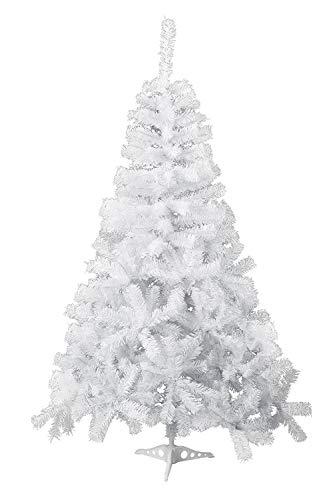HENGMEI 60cm PVC Weihnachtsbaum Tannenbaum Christbaum Weiß künstlicher mit ständer ca. 60 Spitzen Lena Weihnachtsdeko (Weiß PVC, 60cm)
