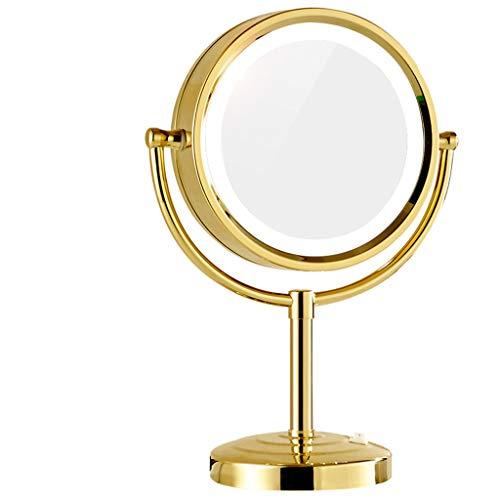 Miroir De Maquillage Led Avec Miroir Lumière Miroir De Bureau Double Face Miroir Loupe Xuan - worth having (Color : B)